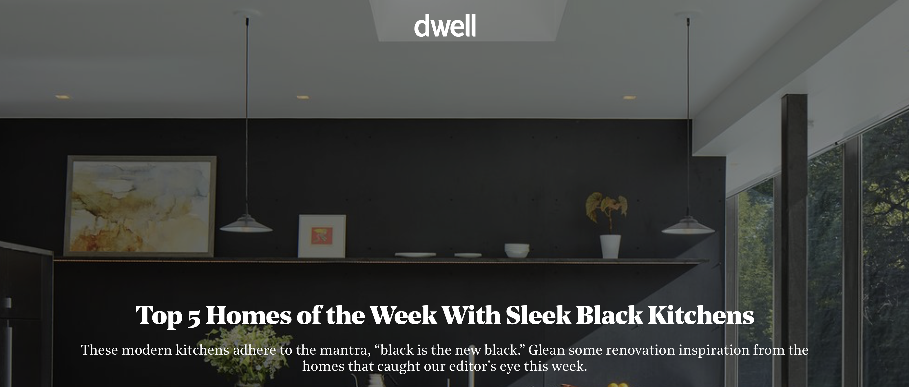 DWELL Magazine: Top 5 Homes of the Week with Sleek Black Kitchens